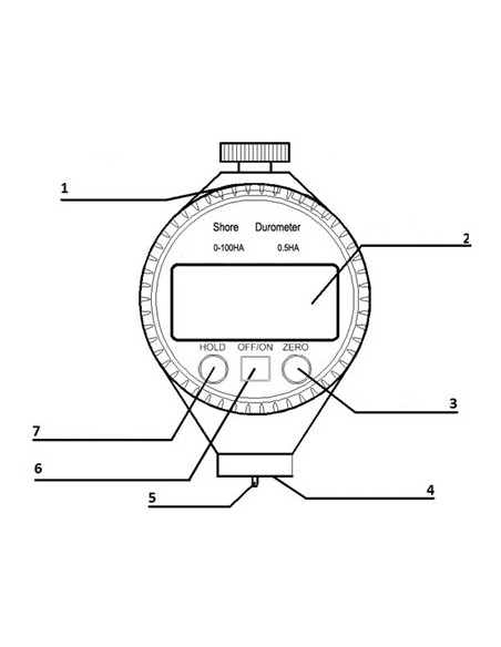 Durómetro portátil digital TYP-100A