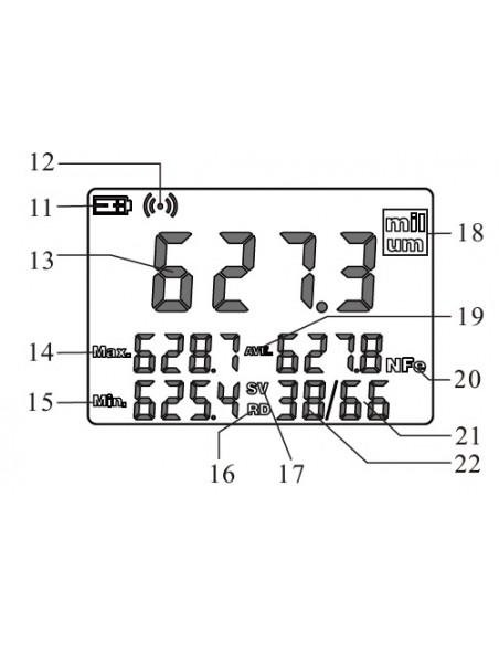 Medidor de espesor de pintura TYP-CM 29B